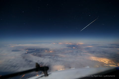 Meteor from the Flight Deck (gc232) Tags: from above sky rock night work canon stars shower star fly flying timelapse high long exposure angle earth live altitude aviation magic debris flight wide cities cockpit aerial astro iso deck astrophotography airline shooting astronomy nightsky lantern boeing 24mm showers airlines 3200 comet cosmic pilot flightdeck meteor comets asteroid airliners 737 meteors highiso 6d b737 uwa palladian 24105mm 24105l avgeek phaethon canon24105 meteoroids canon6d earthporn golfcharlie232