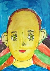 Kindergarten Kid (DewCon) Tags: selfportrait artwork kindergarten