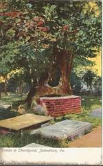 Tombs in Churchyard Jamestown, VA (912greens) Tags: cemeteries graves postcards tombs churchyards jamestown 1900s