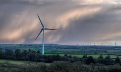 Harnessing Nature (Boba Fett3) Tags: electric energy power structures powerlines devon turbine windpower