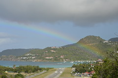 Eden Rock Hotel is the end of the rainbow. (vbvacruiser) Tags: cruise vacation airport rainbow caribbean runway stbarts stbarths silversea silverwind edenrockhotel