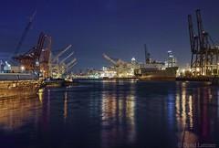 Harbor Island night view (lattiboy) Tags: seattle longexposure blue night industrial purple tripod sigma hour quattro 30mm dp2 dp2q