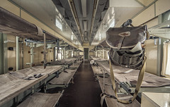 hospital train ([AndreasS]) Tags: red urban history train hospital germany bag wagon europe cross beds decay exploring wideangle medical medicine sick