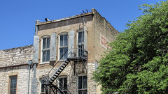 Brick Building, Austin, TX. (dckellyphoto) Tags: old windows urban tree brick austin back texas arch arches fireescape austintx 2016