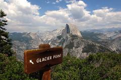 Half Dome (Begoa Fernndez) Tags: california usa mountain landscape peak yosemite halfdome glacierpoint cloudsrest eeuu