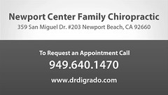 Welcome to Newport Center Family Chiropractic (drdigrado) Tags: auto sports neck back pain accident injury relief health massage posture spine therapy adjustments headache physical nutrition wellness spinal counseling holistic newportbeachchiropractor newportbeachchiropractic