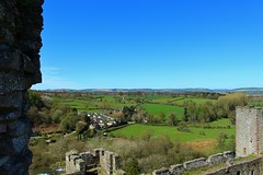 View from the ramparts Ludlow Castle (Eddie Crutchley) Tags: england landscape outside countryside europe shropshire medieval historic ludlow ludlowcastle ramparts simplysuperb