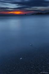 Bye bye day. (Jose HL) Tags: sunset sea seascape marina mar andaluca mediterraneo paisaje jo led granada olas temporal anochecer almuecar largaexposicin largaexposicindiurna