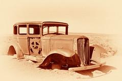 IMG_3453 S (C&C52) Tags: vintage landscape voiture paysage extérieur désert épave artnumérique