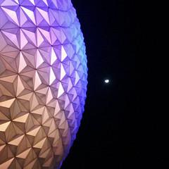 EPCOT Moon eclipse (MxPxP86) Tags: moon night orlando epcot unitedstates florida waltdisneyworld planetearth