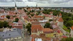 Tallinn old town - a view from the tower of St. Olaf's church (Oleviste kirik, Tallinn, 20150728) (RainoL) Tags: summer urban landscape geotagged tallinn estonia july oldtown est vanalinn 2015 harjumaa olevistekirik stolafschurch 201507 20150728 geo:lat=5944143153 geo:lon=2474761605