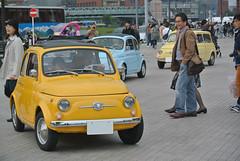 yhcd15132b (tanayan) Tags: red brick classic car japan nikon automobile italia fiat warehouse 日本 yokohama 500 kanagawa 横浜 j1 fiat500 nuova cinquecento 神奈川 histric 赤レンガ worldcars