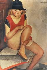 The Model, c. 1926 // by Boris Grigoriev (Russian, 18861939) (mike catalonian) Tags: 1920s portrait female painting russia fulllength ussr 1926 borisgrigoriev