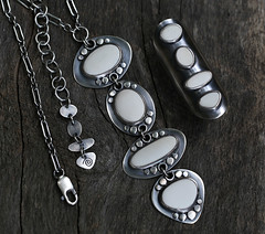 Nature's Geometry (SpiralStone) Tags: metal necklace handmade stones jewelry pebbles ring jewellery metalwork sterlingsilver spiralstone recycledsilver