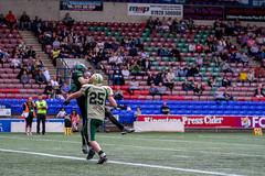 Touchdown Catch (Tim Furfie) Tags: sport action stadium crowd touchdown americanfootball runcorn widnes halton haltonspartans
