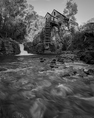 Crystal B&W (Erik Johnson Photography) Tags: bw white black mountains mill abandoned home water waterfall nikon colorado rocks long exposure angle crystal wide explore rockw