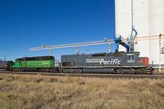 KYLE 9362 Limon 1 Jan 16 (AK Ween) Tags: railroad train colorado limon southernpacific burlingtonnorthern espee emd sd402 sd45t2 speedlettering cascadegreen kylerailroad kyle9362 kyle8041