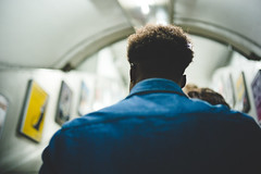 upstairs - underground London (Cem Bayir) Tags: street leica uk blue light england people color london 35mm hair underground lowlight dof metro bokeh pov f14 escalator tube streetphotography depthoffield upstairs fullframe summilux leicacamera streetcolor leicam asperical leicalove 35mmf14summiluxasph leicaphoto leicam240