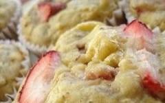 Dolci in tavola: i muffin alle banane e fragole (RicetteItalia) Tags: dolce e banane muffin ricetta fragole