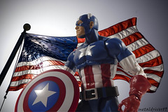 Captain America (metaldriver89) Tags: 2 usa art america toy toys actionfigure photography book comic action flag united steve wave age american actionfigures captain hero figure superhero legends shield states rogers patriot marvellegends marvel universe cinematic captainamerica baf articulated avengers hasbro 3pack ultron murica acba oldgloryflies articulatedcomicbookart