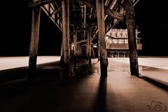 """Astrophotography/Night Photography"" (skippys1229) Tags: ocean longexposure nightphotography beach water night canon pier waves wideangle daytonabeach atlanticocean 2016 52weeks volusiacounty 70d 0452 52weeksproject canon70d 52weeksof2016"