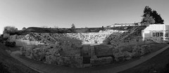 Ancient Theatre_BW (PhotoXen) Tags: trees ancient theatre culture greece