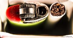 56#365 La Coppia Perfetta (Fabio75Photo) Tags: red verde green fire cigarettes rosso carta fuoco bic tabacco ingranaggio fumo smocking fumare sigaretta accendino rotella tabacchi nuoce nuocere trinciato