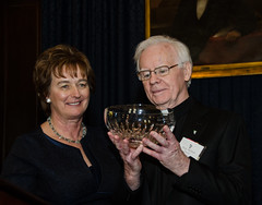 Barbara Jones and Msgr. Doyle