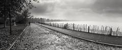 PNR* (George Galanis) Tags: camera bw panorama lake film analog kodak horizon panoramic d76 400 russian 202 foma ioannina fomapan