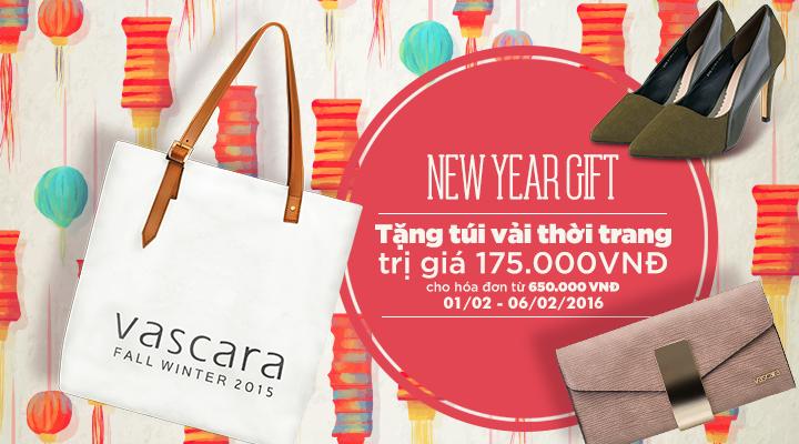 New Year Gift - Tặng túi vải thời trang trị giá 175.000đ cho hóa đơn từ 650.000đ