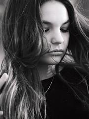 P1270177 (Solne Tarrieu) Tags: street sky black france art girl beauty photography blueeyes femme longhair bordeaux olympus jeans instant moment toit amateur ville regard younggirl hauteur pulpeuse olympusem10