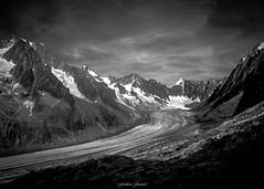 Fin de Journe sur le Glacier d'Argentire (Frdric Fossard) Tags: panorama alpes lumire altitude ombre glacier ciel contraste nuage clart chamonis hautesavoie luminosit massifdumontblanc