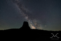 Devils Tower Silhouette Milky Way (Mike Ver Sprill - Milky Way Mike) Tags: longexposure america stars landscape star amazing nikon unitedstates outdoor space wideangle roadtrip ufo explore nightsky wyoming universe devilstower cosmos 3rd magnificent mv d800 1424 aloneatnight bestphotographerever bestphotography starrynightsky closeencountersthirdkind michaelversprill mikeversprill summer2015 milkywaymike milkywaynucleus devilstowermilkyway startrackerioptron