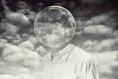 Headache (Xonex) Tags: moon shirt clouds weird exposure dress surrealism double