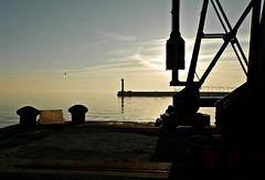 dal molo (silvia07(very busy)) Tags: sunset sea lighthouse faro tramonto mare harbour greece porto grecia molo