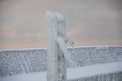 Ice cold (Infomastern) Tags: winter sea snow cold ice water pier is vinter sn vatten hav stersjn smygehuk kallt