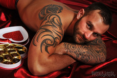 Valentine's Day with Nick Wagner 22 (Violentz) Tags: portrait hairy man male guy heart body muscle handsome bodybuilding fitness fury valentinesday physique tattooed patricklentzphotography nickwagner