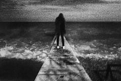 (Malykhanov) Tags: sea sky blackandwhite bw storm black water monochrome silhouette night dark blackwhite waves surreal noise blacksea darkart