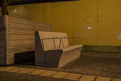 Empty seat near Etihad stadium (georgehuthart) Tags: concrete mcfc premierleague streetphotographer canoneos5d manchestercityfootballclub modernseating etihadstadium huthart44 nightphotographynightphotographerbulbmodepremierleaguephotographyatnight premierleaguegrounds