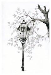 Gas lamp (Karwik) Tags: lamp pencil pencils drawing gas warsaw warszawa owek rysunek latarnia olowek cegowska gazowa ceglowska