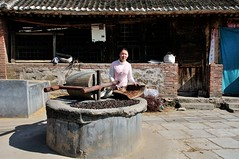 A traditional soy bean mill  near Huairou (adamba100) Tags: life china road street city trip travel light boy portrait people woman mountain man color colour cute male men tourism lamp girl beautiful beauty face field female children landscape asian person star town canal kid interesting women asia pretty vietnamese cityscape child play view outdoor hill innocent sightseeing chinese decoration beijing lifestyle style charm korea headshot tourist vietnam sidewalk mongolia korean human thai innocence mountainside lantern gadget grassland pure channel pendant foothill purity mongolian