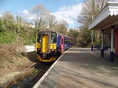 153329 Calstock (Marky7890) Tags: station train cornwall railway calstock gwr dmu class153 tamarvalleyline supersprinter 153329 2g74