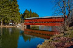 Sachs Covered Bridge (MarkNelsonJr84) Tags: bridge history water landscape landmark haunted pa gettysburg covered