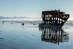 2016-01-10 - Peter Iredale Shipwreck-12 (www.bazpics.com) Tags: ocean sea usa beach water oregon america skeleton sand ship pacific or wave peter shipwreck frame hull wreck iredale