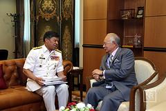 Kunjungan Hormat oleh Dato' Sri Panglima Ahmad Kamaruzaman Bin Haji Ahmad Badarudin, Panglima Tentera Laut.