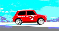 Canned Heat Radio Controlled Mini Cooper By Tyco R/C Mattel Incorporated 1998 : Diorama Boneville Salt Flats - 4 Of 21 (Kelvin64) Tags: by radio salt mini flats cooper heat canned 1998 rc mattel diorama incorporated controlled tyco boneville