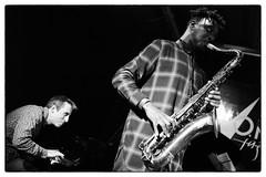 Louis Moholo-Moholo's Five Blokes @ Vortex Jazz Club, London, 16th March 2016 (fabiolug) Tags: leica blackandwhite bw music vortex london monochrome 35mm blackwhite concert live voigtlander gig livemusic performance piano jazz rangefinder monochrom sax saxophone johnedwards biancoenero dalston pianoforte freejazz leicam jasonyarde alexanderhawkins fiveblokes louismoholo vortexjazzclub voigtlandernokton35mmf14 voigtlandernoktonclassic35mmf14 fourblokes voigtlander35mmf14 shabakahutchings louismoholomoholo mmonochrom leicammonochrom leicamonochrom vortexjazz