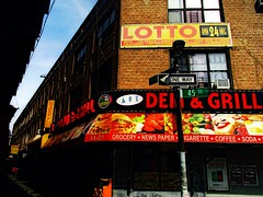 Lotto,Deli & Grill (Robert S. Photography) Tags: newyork building colors brooklyn corner canon march powershot grill bodega deli lotto grocery 2016 45thst