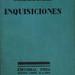 Libro Inquisiciones, de Jorge Luis Borges, Editorial Proa, Buenos Aires, 1925. Primera edición.