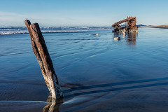 2016-01-10 - Peter Iredale Shipwreck-52 (www.bazpics.com) Tags: ocean sea usa beach water oregon america skeleton sand ship pacific or wave peter shipwreck frame hull wreck iredale